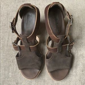 Timberland brown suede & leather sandals 6.5